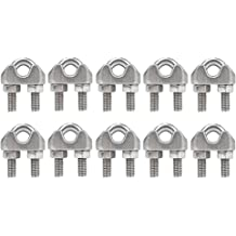 JCBIZ 8pcs 304 Stainless Steel U-Shape Wire Rope Cable Clip Clamp Fastener M6