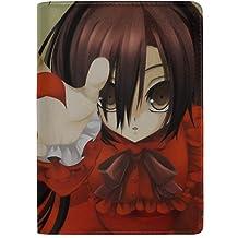 Anime Girl Hat Dress Wind Anime Wind Leather Passport Holder Cover Case Travel One Pocket