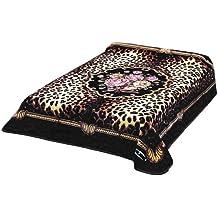 Solaron Korean Blanket Thick Mink Plush queen size Rose