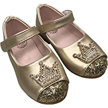 lakiolins Baby Girls Stars Hollow Tassel T-Strap Mary Jane Flats Princess Dress Shoes