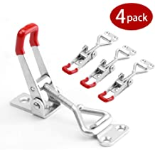 Cases 225D 2-Pack WOFTD Toggle Steel Latch Catch Clip Clamp 507Lbs Holding Capacity Pull Latch Hasp Metal For Tool Boxes Trunk