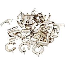 78Pcs Silver Metal Bag Studs 26 English Letters Punk Rivets Leathercraft DIY