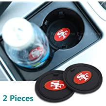 2 Pack 2.75 inch for Kansas City Chiefs Car Interior Accessories Anti Slip Cup Mat for All Vehicles Kansas City Chiefs