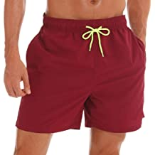 Mens Mako Core Performance Elastic Waist Swim Trunk Holiday Party Quick Dry Beach Board Shorts Swimwear Sport Running