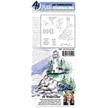 Art Impressions Bible Journaling Watercolor Rubber Stamps-Bible Foliage