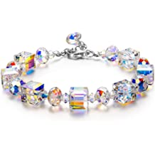 93a044ab6 LADY COLOUR ♥ A Little Romance ♥ Mothers Day Bracelet Gifts Sparkling  Bracelet for Women with Aurore Boreale Crystals from .