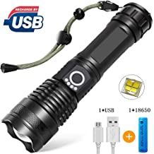 Ultrafire Focus Tactical Torch T6 LED 100000LM Flashlight /&18650 Battery+Charger
