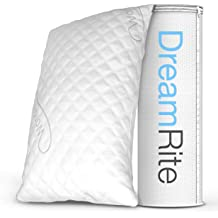 Queen Molblly Adjustable Loft Shredded Gel Memory Foam Sleeping Bed Pillow Plush and Support Hypoallergenic Breathable Washable CertiPUR-US 2 Pack