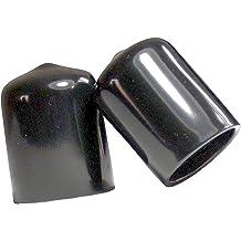 7//16 inch Screw Thread Protectors ID Rubber Round end Cap Flexible Tube caps Black 100 Pieces