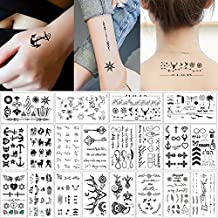 60b8b3e77b7c4 20 Sheets Fake Black Tiny Temporary Tattoo Body Sticker Hand Neck Wrist Art  Fashion