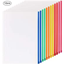 with Hook and Loop Closure Green,A4 Size 5 Packs LaOficina 11 Holes Semi Poly Envelope Pocket Insert Pages for Binders