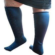 24 inches at Calf Black purple size 10-12 Xpandasox Plus Size//Lymphedema Socks