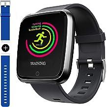 40aebc8d224ec5 Smart Watch, Sport Waterproof Smartwatch, Fitness Tracker with Heart Rate  Blood Pressure,Blood Oxygen, Sleep Monitor,Message Call Reminder .