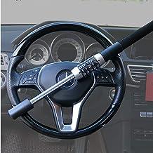 xj Car Steering Wheel airbag Lock Safe Rotary Lock Black Double Hook Retractable Comfortable and Durable Anti-Theft Lock Device 5-Digit Password Truck Heavy Truck Lock Universal SUV Van car
