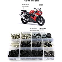Xitomer Complete Fairing Bolts Full Set Bodywork Screws//Fastenings//Mounting Kits Silver for Yamaha YZF-R6 1999 2000 2001 2002