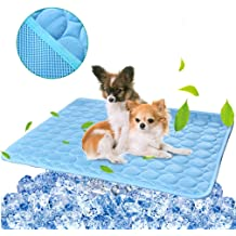 Keep Your Pet Cool No Need to Freeze Or Chill Dog Self Cooling Mat Blue, Large for Indoors Outdoors Car Travel Mosunx Pressure Activated Dog Cooling Mat