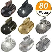 Kissitty 100Pcs Transparent Clear Glass Flat Back Cabochons 24.5~25mm Diamete...