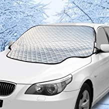 Hivernou Car Windshield Snow Cover Windshield Cover for Ice and Snow with 4 Layers Protection,Snow,Ice,Sun,Frost,Dust Defense Thick/&Extra Large Magnetic Windshield Snow Cover Fits Most Vehicles