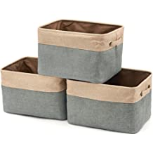 MBJERRY Collapsible Large Storage Baskets Bins 15L x 10.6W x 9.84H 3-Pack Ocean Star Pattern - Storage Cube Box Foldable Canvas Fabric Organizer with Handles for Home Office Closet