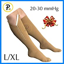e9d55960f3 Presadee Original Closed Toe 20-30 mmHg YKK Zipper Compression Circulation  Swelling Recovery Full Calf