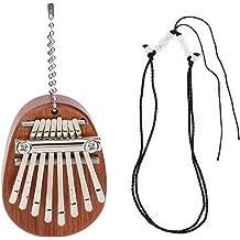 QUACOWW 2 Packs Kalimba 8 Keys Thumb Pianos Mini Kalimba Portable Wood Finger Thumb Piano Pendant Musical Instrument Gift for Kids Adult Beginners