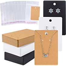 200 Pieces Earring Display Kraft Card Earring Card Holder 200 Pieces Self-Seal Bags and 500 Pieces Silicone Earring Backs