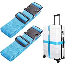 Travel Adjustable Luggage Strap TSA Lock Security Belts Travel Accessories Bag Straps GLORY ART Heavy Duty Suitcase Belt Fun Airplanes On White Sky