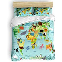 Flat Sheet and Pillow Covers for Children//Adults//Teen Duvet Cover Sunteeny Home Bedding Set 4 Piece Duvet Cover Set Full Size Cartoon Grey Cat Soft Bed Sheets