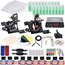 c2c787ccf8f57 Dragonhawk Complete Tattoo Kit 2 Machine Gun 10 Color Inks Power Supply