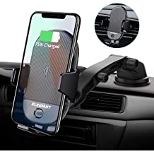 Get Fast with QC 3.0 USB Car Adapter Wireless Car Charger Mount,ICOVFE Auto Clamping with IR Sensor Qi 15W//10W//7.5W Wireless Charger Air Vent Phone Holder Works with iPhone 11//Xs//XR//Samsung S10//S9