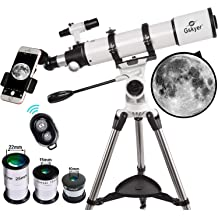 with Backpack Refraction Telescope Adjustable Aluminum Tripod The Achromat Eyepiece of Kellner K25mm and K6mm INTEY F40070M Astronomical Telescope Suitable for Beginner Amateurs 50~120cm