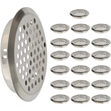XMHF Stainless Steel Round Mesh Hole Air Vents 52mm//2inch Mounting Diameter 50Pcs
