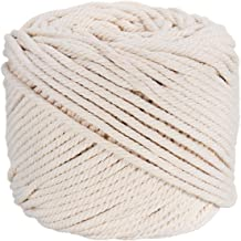 Macrame Rope Natural Cotton Soft Unstained Rope for Handmade Plant Hanger Wall Hanging Craft Making About 500m ZOUTOG 2mm x 547 yd