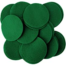 Playfully Ever After 4 Inch Green 19pc Stiff Felt Circles