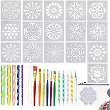 Mandala Dotting Tools,39 PCS Dotting Tools Set with a Blue Zipper Waterproof Storage Bag,Dot Painting Tool for Painting Rocks,Nail Dotting and Art Drawing