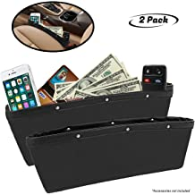 Wittyware Beige Left Car Seat Side Organizer Seat Pockets Seat Gap Filler with Cupholder