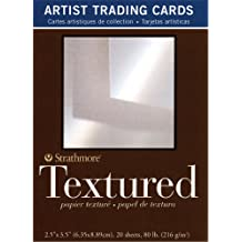 105-907 500 Series Illustration Board Artist Trading Cards, Lightweight Vellum 2.5 by 3.5, 5 Sheets Strathmore