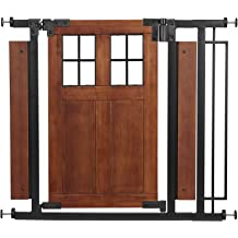 Dark Wood Evenflo Expansion Swing Wide Gate Extra-Wide Gate Farmhouse