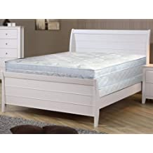 Spring Coil 11-Inch Meduim Plush Foam Encased Hybrid Eurotop Pillowtop Innerspring Mattress And 4-Inch Wood Traditional Box Spring//Foundation Set With Frame Queen Size 79 x 59