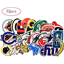 qualityprint New England Patriots Set of 4 NFL Football Car Bumper Stickers Decals 5 Longer Side