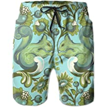 Funny Narwha Dabbing Narwhal Comfortable Mens Water Sports Quick Dry Swim Trunks