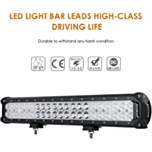 Auxbeam 9inch LED Light Bar 54W Led Work Lights Spot Beam Off-Road Driving Lights Waterproof with Mounting Brackets for Jeep Pickup trucks SUV ATV UTV Ford