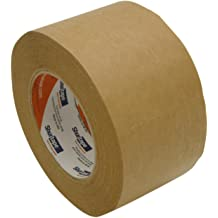 Extra Thick 5.5 Mil Packaging Shipping Tape Rolls Flatback Kraft Brown Paper Packing Tape 48 Pack 2 Inch x 60 Yards