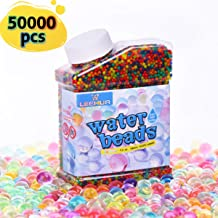 TOAOB Non Toxic Water Beads Kit include 50000 Small Water Beads 200 Large Water beads Mixed Jelly Balls Water Gel Beads for Vases Plant Home Decor