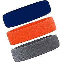 Men /& Women Sweatband Headband Terry Cloth Moisture Wicking for Sports,Tennis