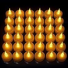 CestMall 12 PCS Flameless Candles LED Tea Light Battery Powered Tealight Candles for Seasonal Festival Celebration Party Wedding Decoration