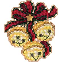 Merry Moose Beaded Counted Cross Stitch Ornament Kit Mill Hill 2011 Winter Holiday MH181303
