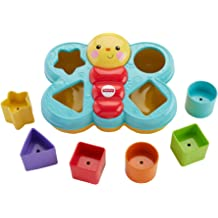 Fisher Price Infant Classics 3 Toy Box Chatter Phone Stack roll cups shape sort