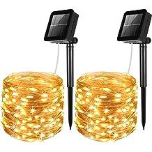 Amir 100 LEDs Starry String Lights Copper Wire Ligh Solar Powered String Light