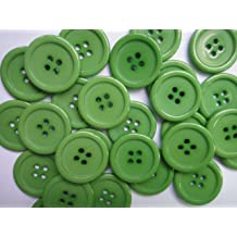 Lyracces Wholesale Lots 100pcs 18color Pick 25mm Flatback Resin Sewing Clothes Fasteners Buttons Gray
